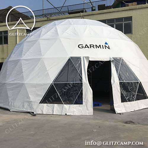Custom made dome tents with Custom Designed Graphics