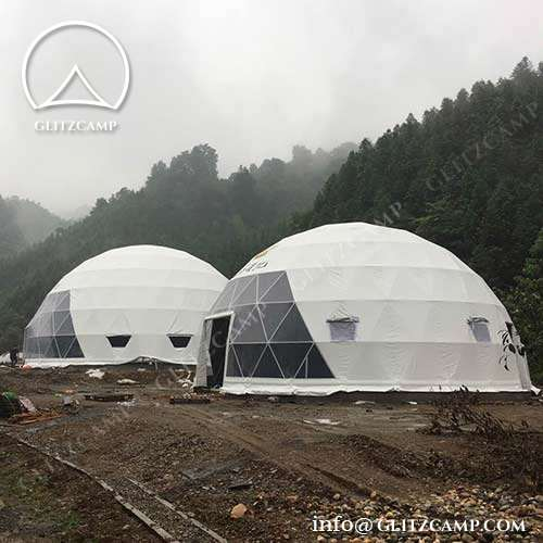 Geodesic dometent for camping