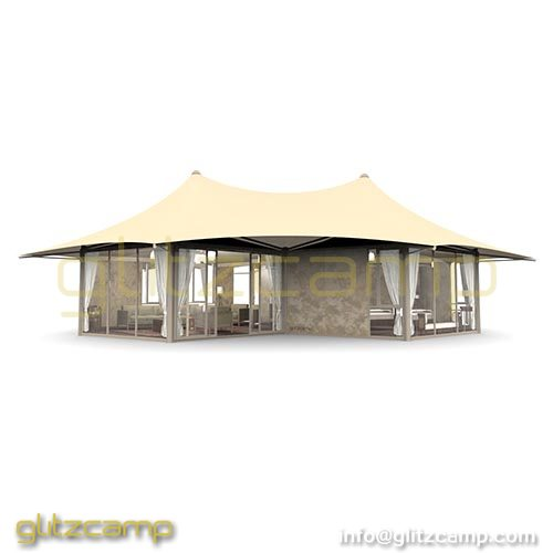 Large Two Peak Safari Tent Hotel For Resort