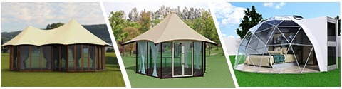 what-glitzcamp-tent-offers---multi-peak-safari-tents----luxury-lodge-tents---geodesic-dome-igloo-house