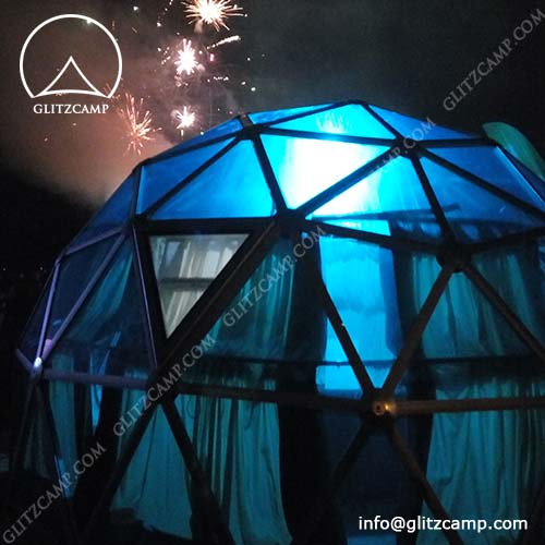 Glass Geodesic Dome With Windows