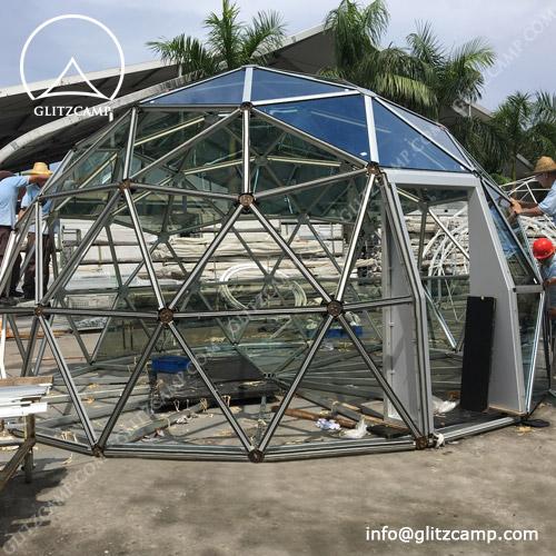 Aluminum Geodome Setting Up