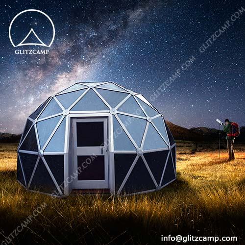 Geodome House With Colorful Glass Panel