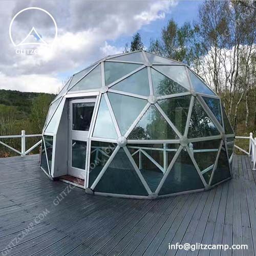 Living Dome House In Forest