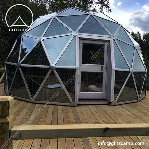 Clear Glass Dome with Openable Roof Window