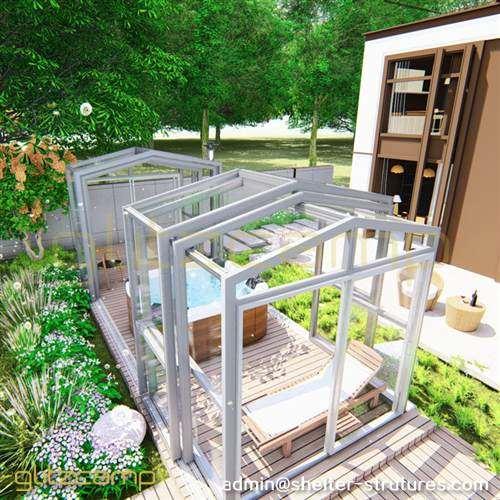 Custom Designed Dome Deck Enclosures for Outdoor Hot Tub