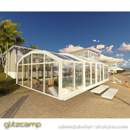 Enclosed Patio or Spa extension with Outdoor Hot Tub Enclosure