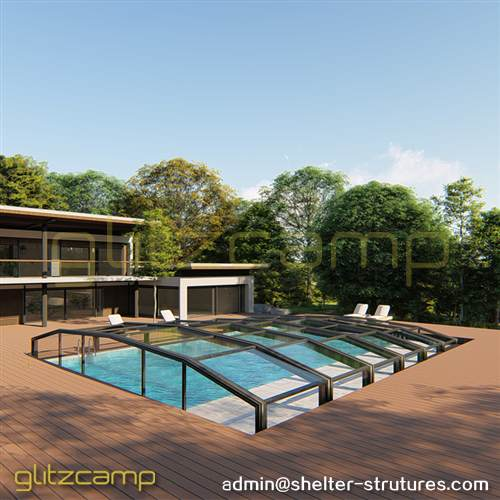 Low Height Residential Pool Enclosures - Glass Sunroom For sale