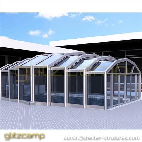 Retractable Patio Enclosures for Commercial Store, Coffee Shop