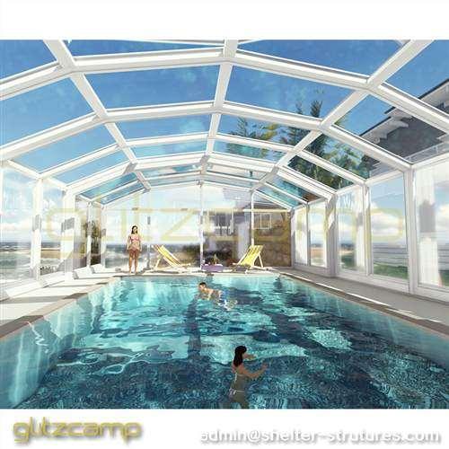 Free-standing Swimming Pool Enclosures - Mansard Style Patio ...
