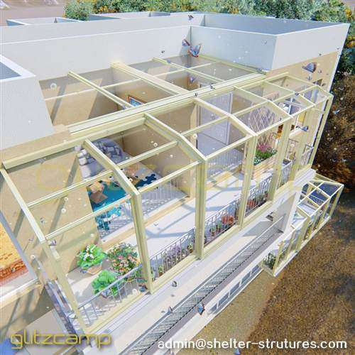 Lean-to Greenhouse Enclosure for An Enclosed Patio