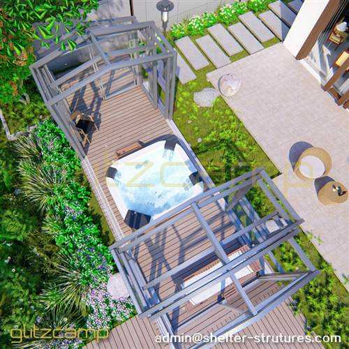 Free Standing Hot Tub Enclosures for Patio Sunroom