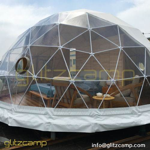 Dia.6m Igloo Style Geodesic Dome Hotel for Eco Camping Resort