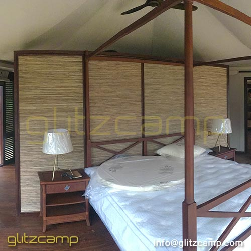 African Safari Tents with Bedroom Bathroom Living Room for Glamping Accommodation