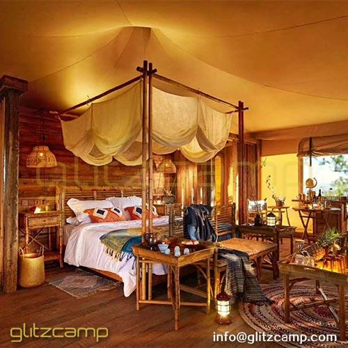 Safari Tents with Bathroom and Shower System