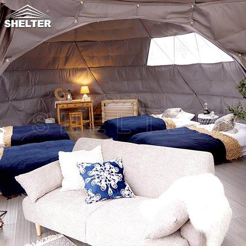Connected Dome Home as Family Tent